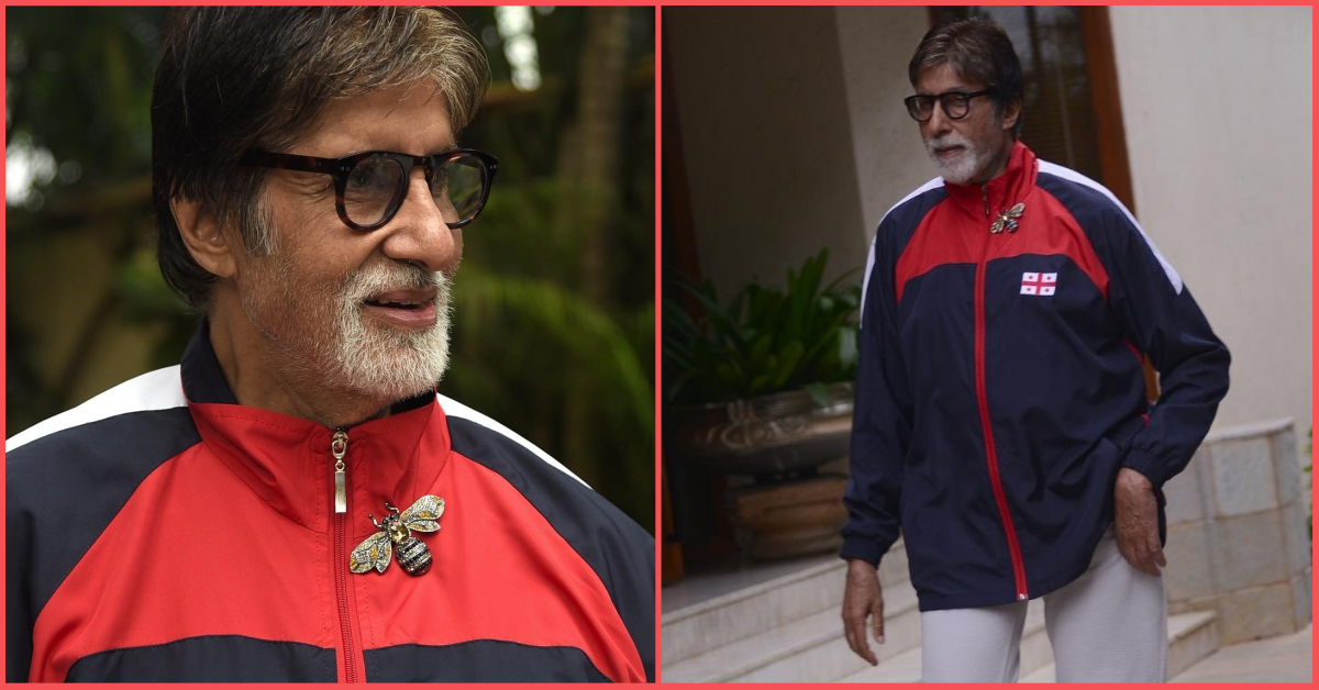Big B Has A Big Bee On His Jacket And It Looks As Timeless As His Style!