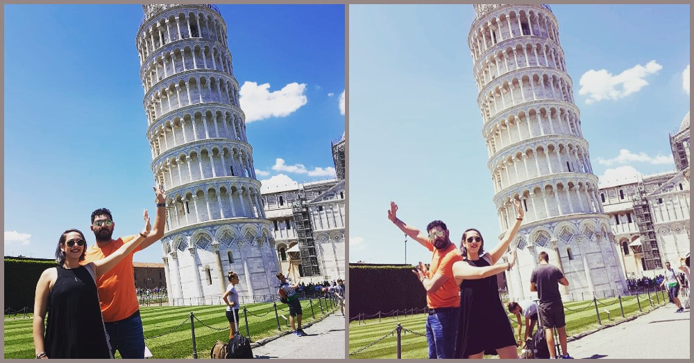 Hazel Keech Trolling Hubby Yuvraj Singh For His Failed Pisa Pose Is The Funniest Thing Ever!