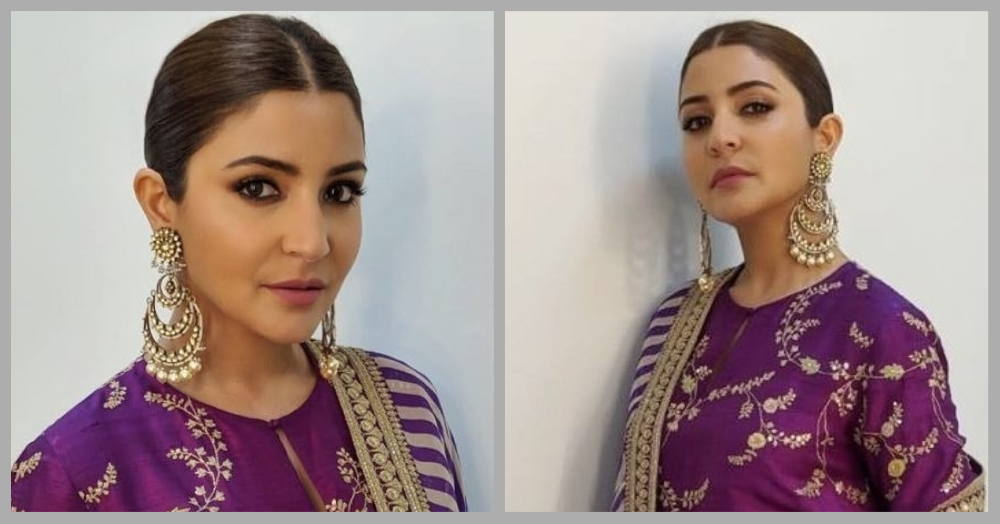 Anushka Sharma's Purple Suit Is So Pretty, We're Looking For Our Sui Dhaaga!