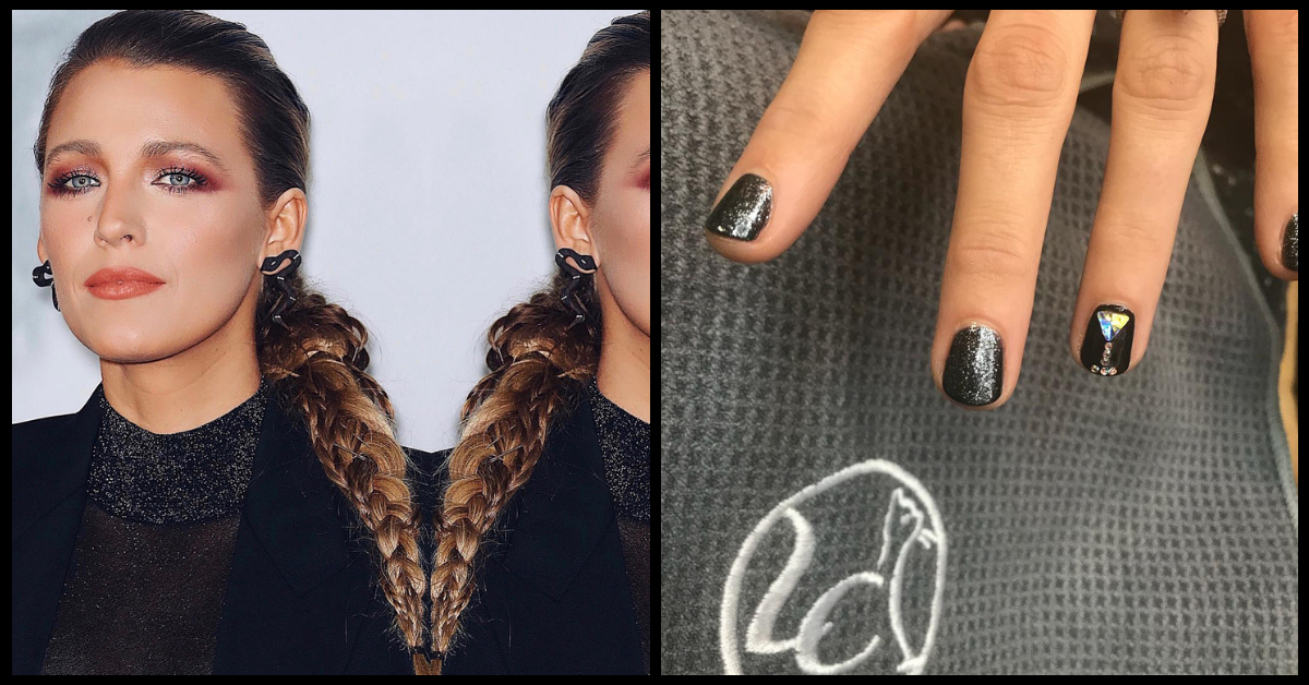 Martini's And Manicures: Blake Lively's Nails Actually Had A Hidden Message!