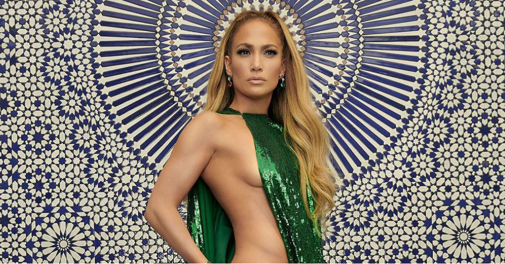 J.Lo's Fit Body In This Barely-There Dress Will Make You Green With Envy