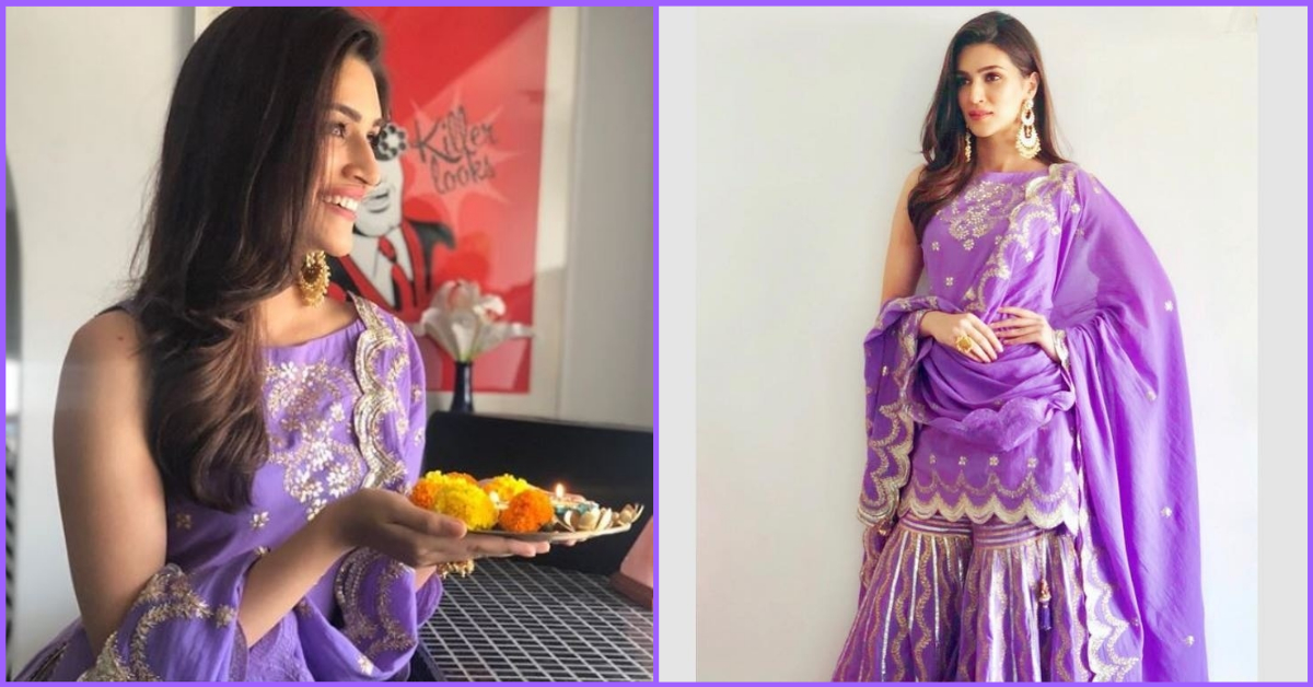 Kriti Sanon's Ultra Violet Sharara Is What You Need To Look Ultra Chic This Party Season