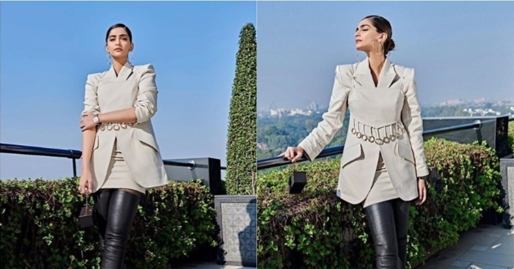 Move Over Pantsuit, The Skirt Suit Is Here & Sonam Kapoor Knows How To Rock It