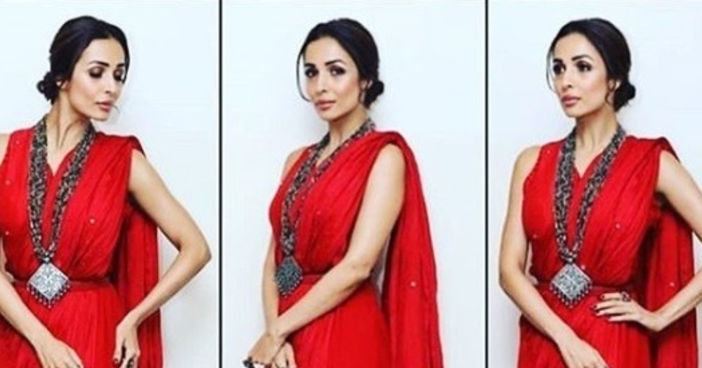 ICYMI, Malaika Arora Is A Glam Goddess In This Oh-So-Gorgeous Red Saree