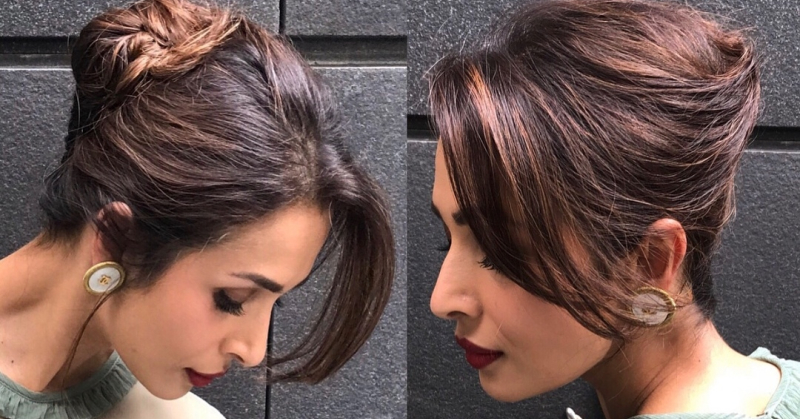 Malaika's Flirty French Twist Updo Is Perfect For A Valentine's Date!