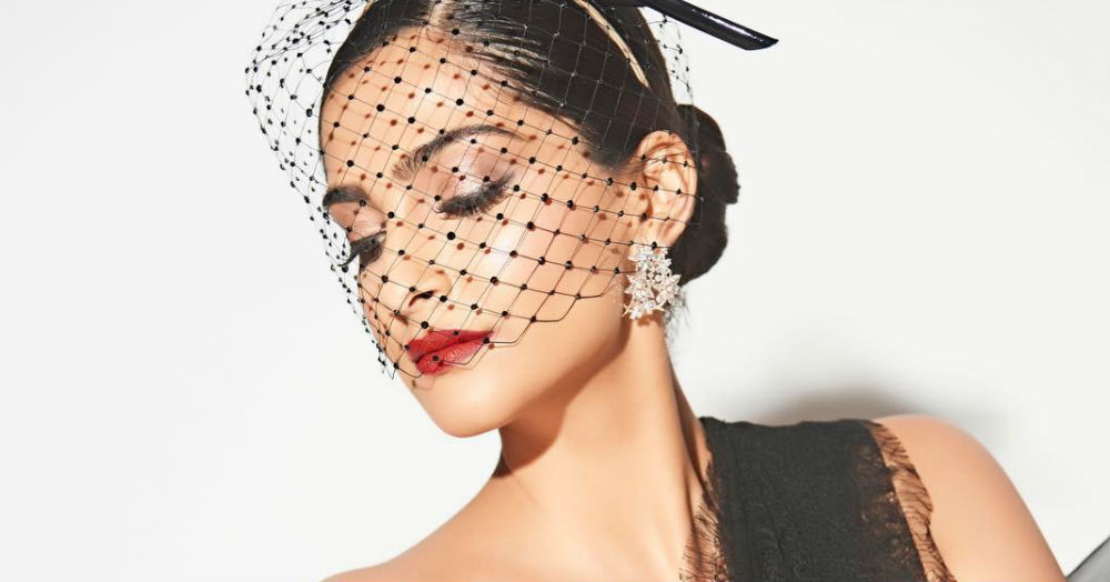 Sonam Kapoor Walks The Red Carpet In A *Saree, Lace And Fishnets, Oh My!*