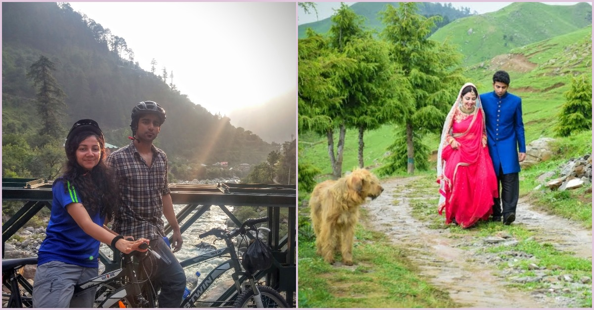 This Couple First Met On A Trek... Three Years Later They Got Married At The Same Spot!