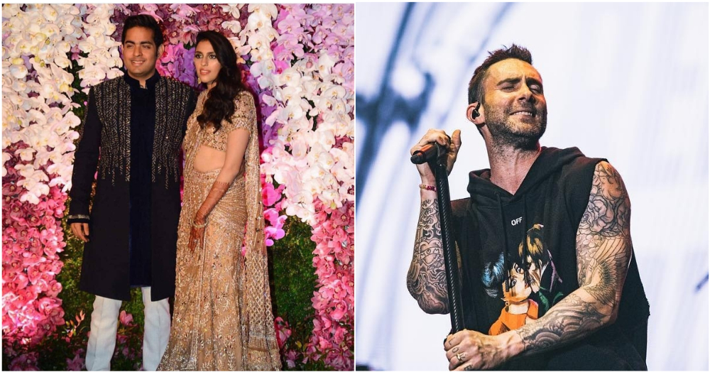Watch Videos: Shloka Mehta & Akash Ambani Slow Dance As Adam Levine Croons 'She Will Be Loved'