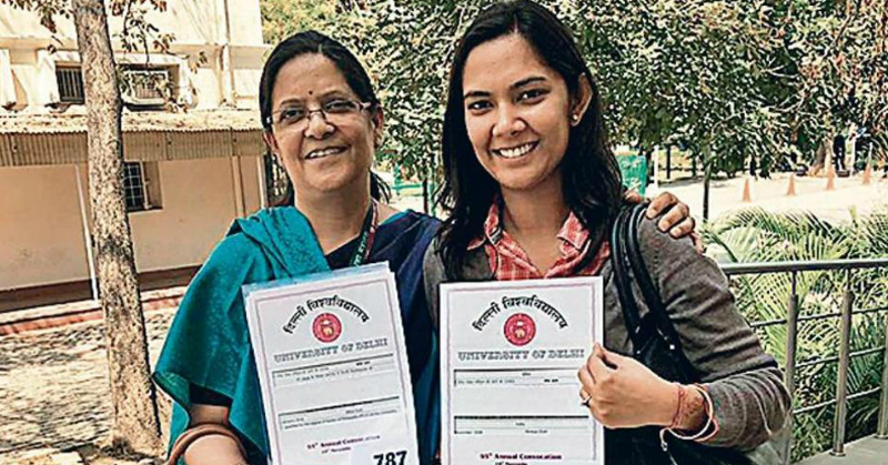 This Mother-Daughter Duo Made History At Delhi University By Completing Their PhDs Together
