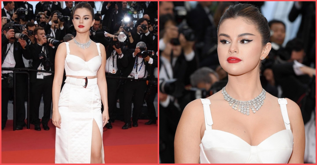 It Must Be Scorching In Cannes 'Coz Selena Gomez's Plunging Bustier Is Fiyaah!
