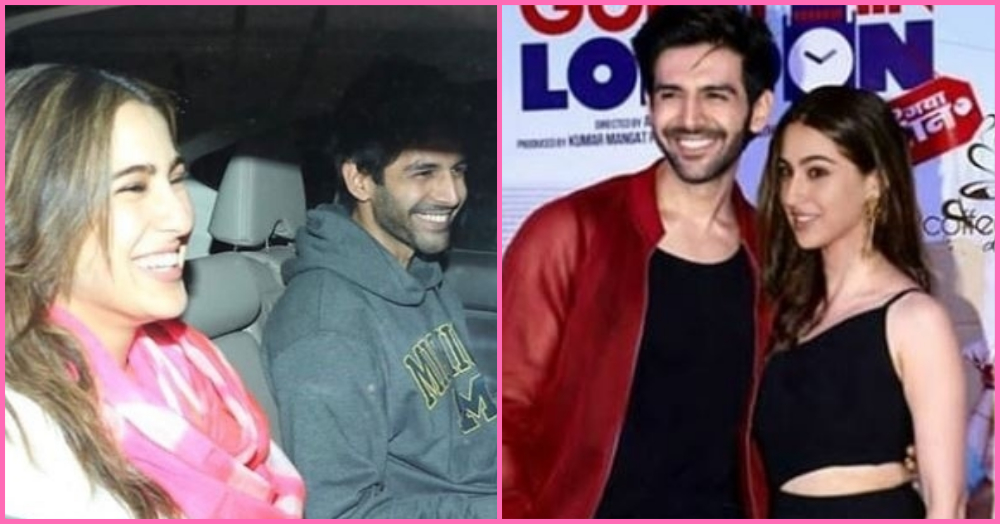 Holding Hands And Getting Cosy: Sara Ali Khan And Kartik Aryan Had A #LoveAajKal Moment