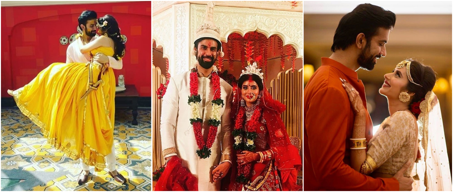 Band Baaja Baraat: Rajeev Sen & Charu Asopa's Wedding, Sangeet & Haldi Pictures Are Out!
