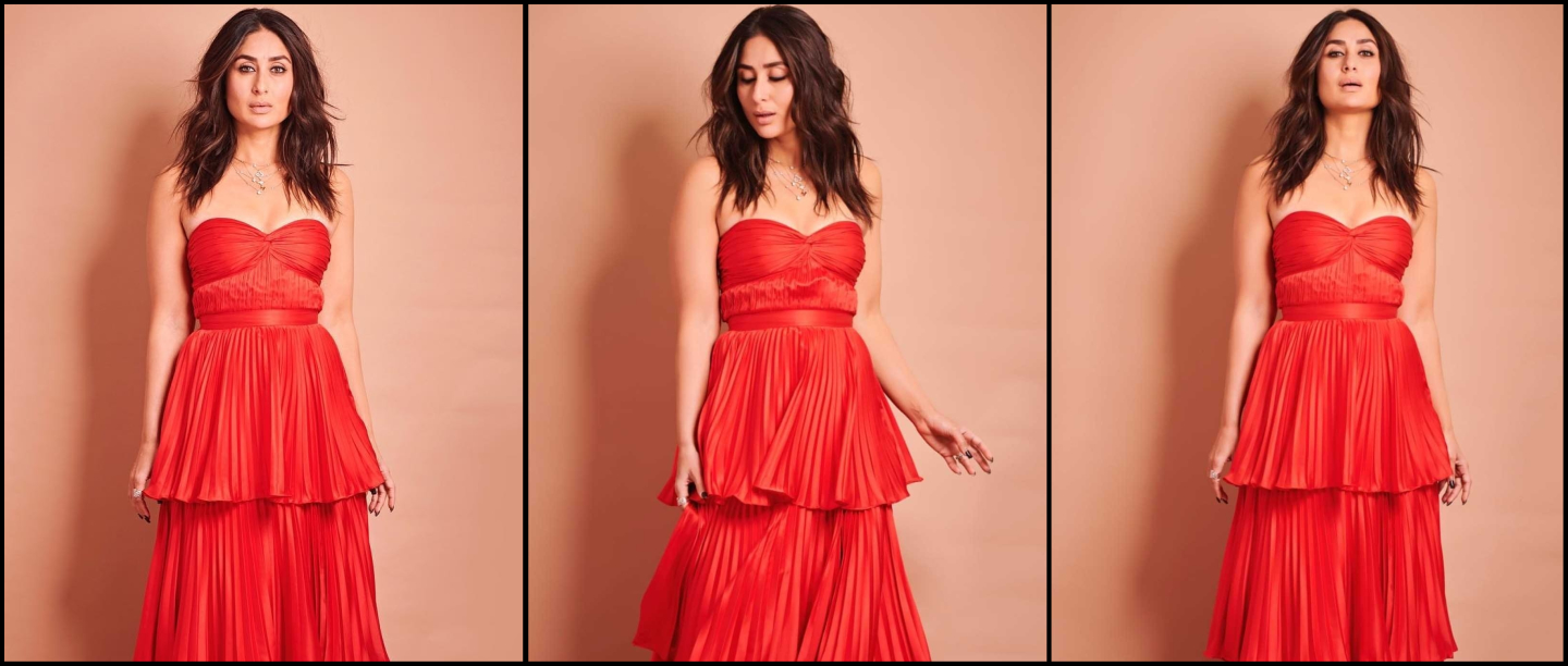 Kareena Kapoor Looks Like A *Yummy* Red Velvet Cupcake In This Tiered Tube Dress