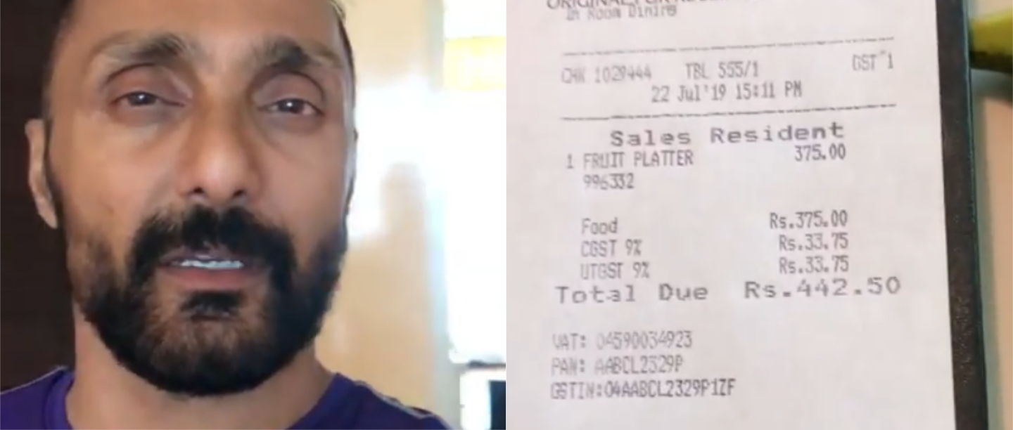 Ullu-Banana: Rahul Bose Shares His Outrageous Bill After Ordering Just Two Bananas!