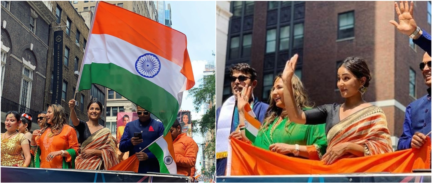 Hina Khan Participates In The India Day Parade In New York & Fans Overseas Can't Keep Calm