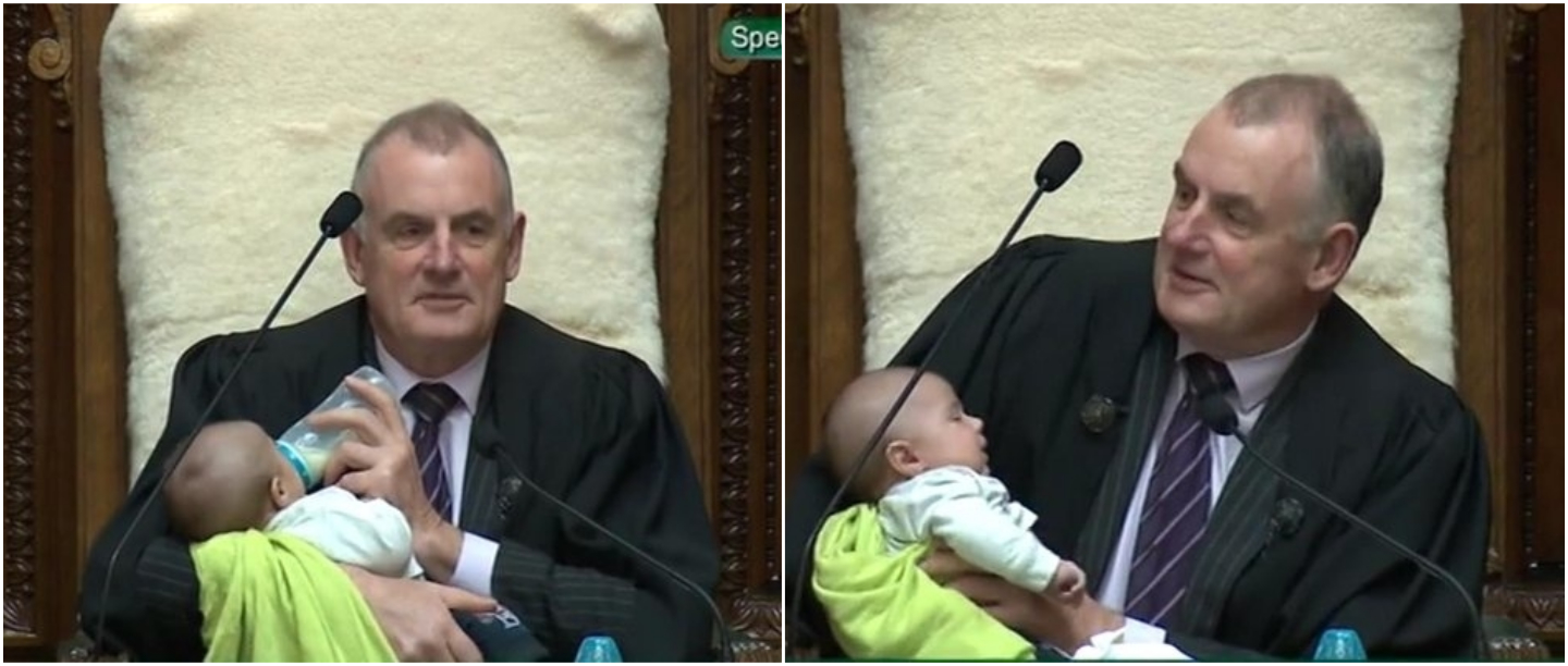 So Awwdorable: New Zealand Speaker Babysits An MP's Newborn In The Parliament