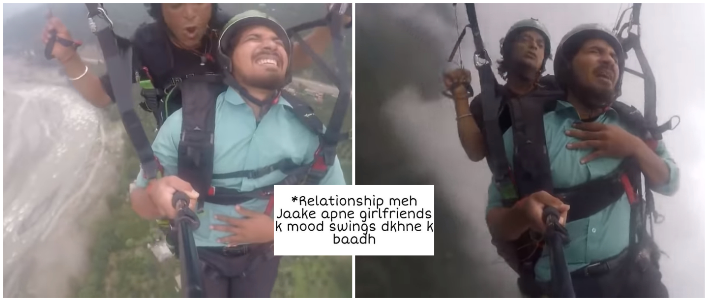 #MostMemeableMoment: Reactions To Paragliding Video Guy Is Something We Can All Relate To