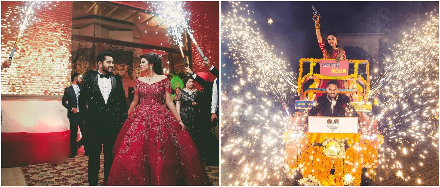 9 *Spectacular* Couple Entry Ideas For Your Reception Night!