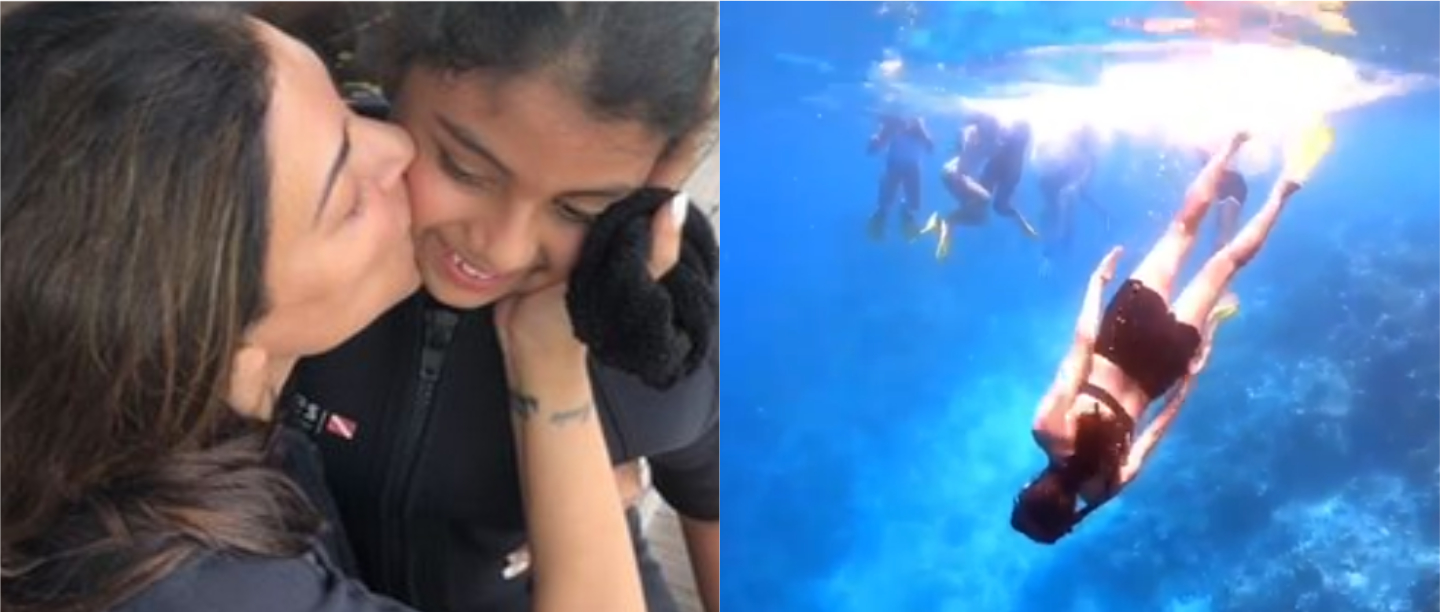 Actress Sushmita Sen Celebrated Her Daughter Alisah's 10th Birthday Underwater!