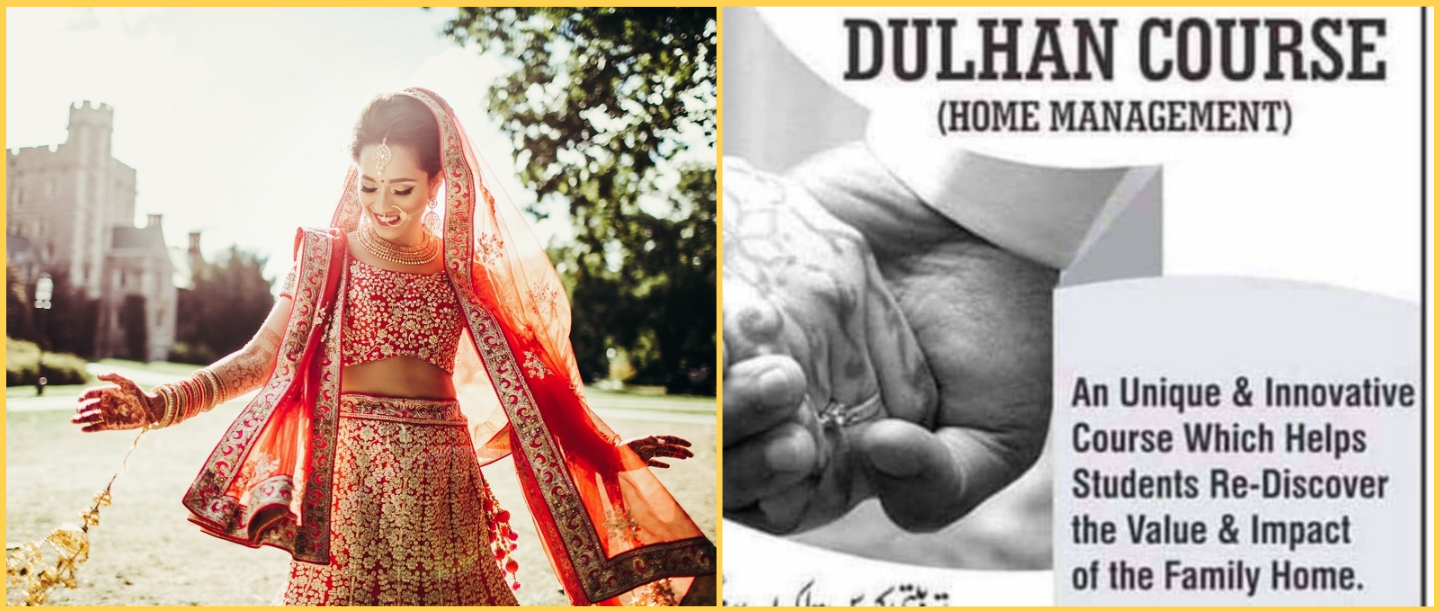 WTF: Hyderabad Institute Has A 'Dulhan Course' For Happy Married Life & We're So Mad!