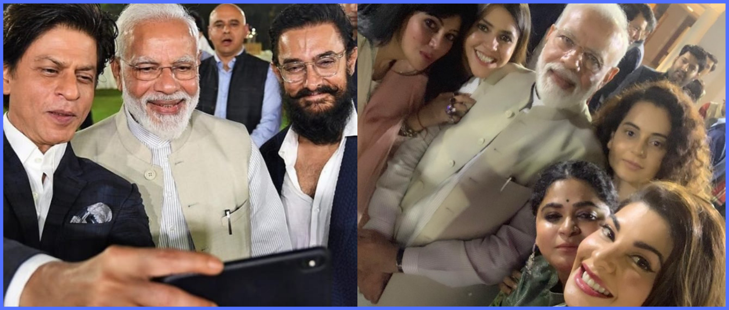 Starry Night: Bollywood Biggies Meet PM Modi, Promise To Promote Gandhi's Ideals Via Films