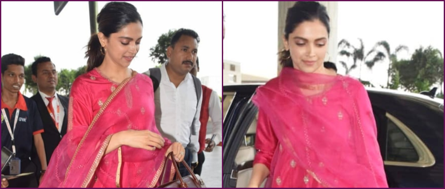 Deepika Padukone's Gulabi Suit Is The Perfect Outfit For Your Bestie's Ghar Ka Function
