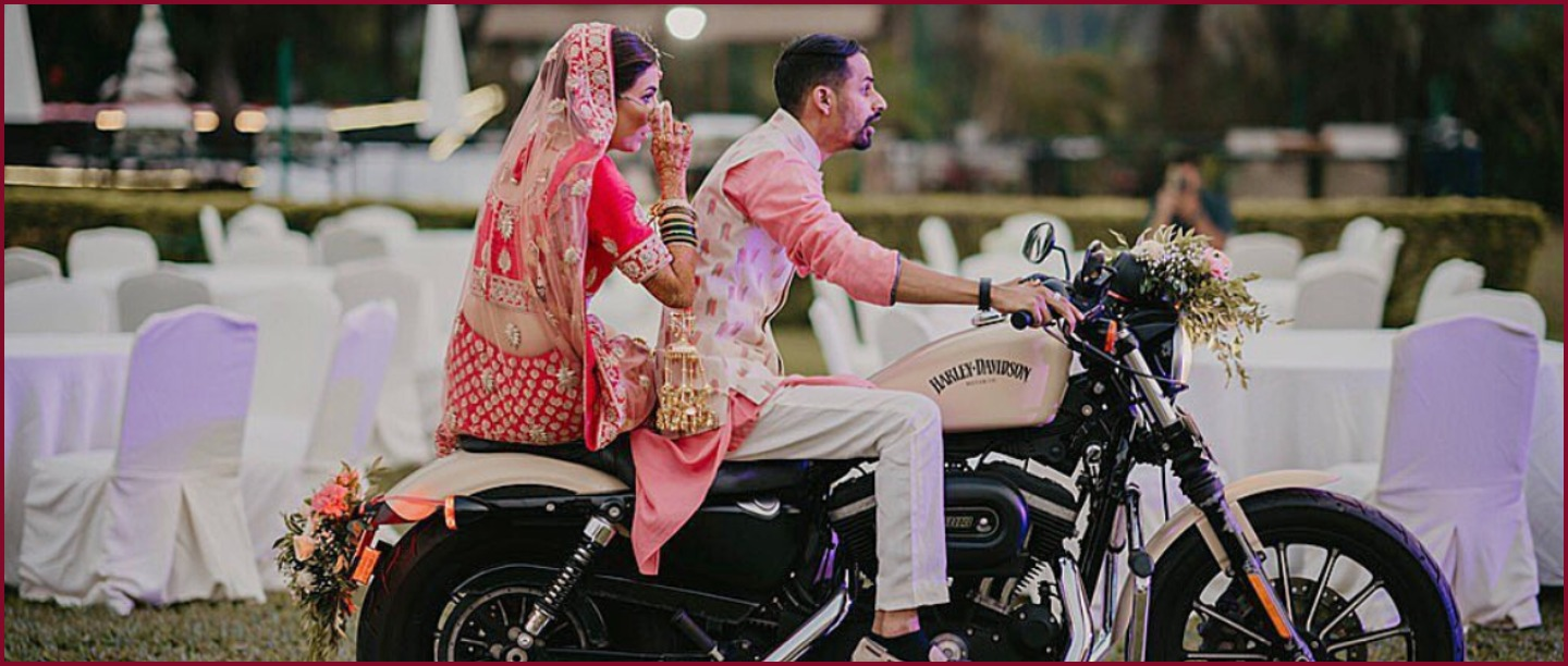 Badass Bride Enters Her Wedding On Harley Davidson & We're So In Love!