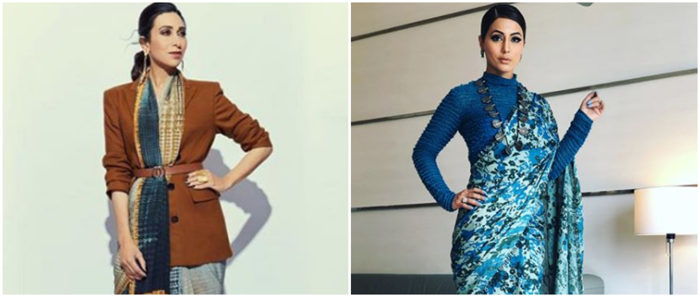 Denim Jackets & Turtlenecks: Stylish Ways To Wear A Saree In Winters Without Freezing!