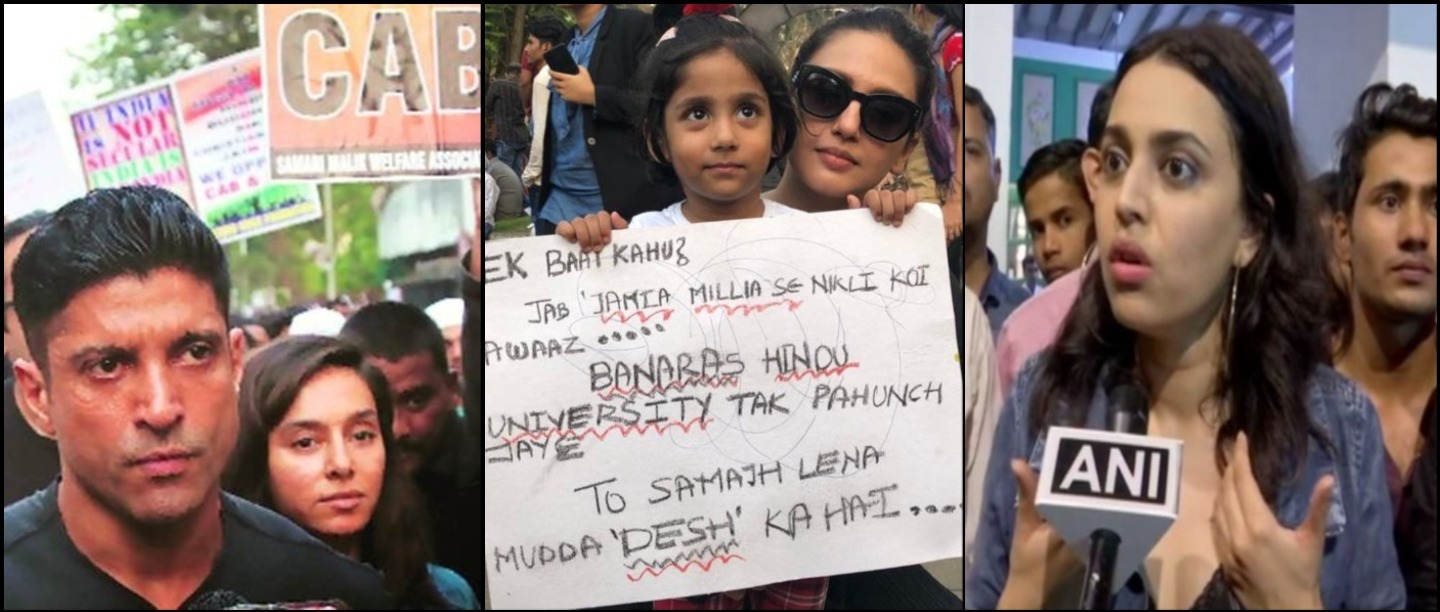 CAA Protests: B-Town Celebs Took To Streets To Stand In Solidarity With India's Youth