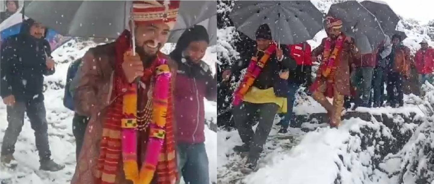 Love Without Limits: This Groom & His Baraatis Walked 4km In The Snow To Reach The Bride!
