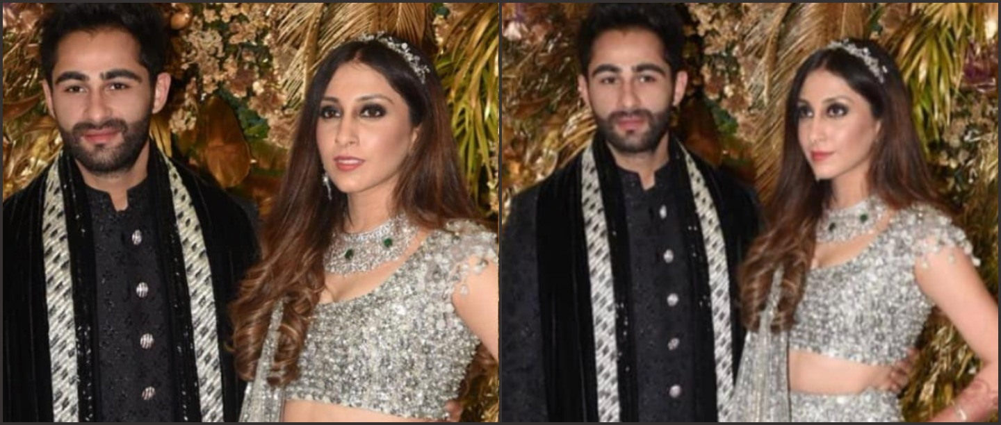 Nazar Na Lage: Newlyweds Armaan & Anissa Look Stunning In Their Glittery Reception Outfits