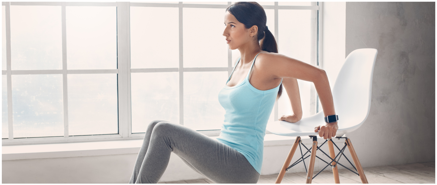 3 Exercises In Under 10 Minutes: A Quick Chair Workout To Get Fit Anywhere, Anytime