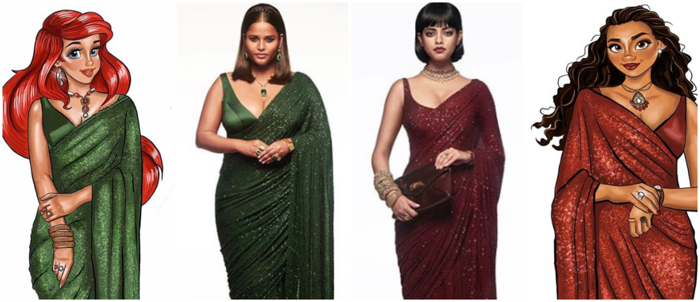 Artist Recreates Disney Princesses With A Sabyasachi Twist & The Results Are Magical