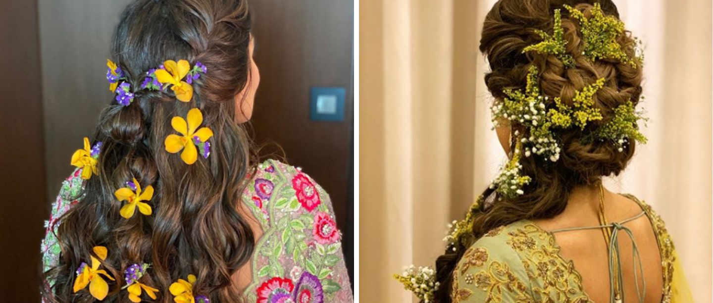 It's A Floral Paradise: 8 New Ways To Style Flowers In Your Hair For The Mehendi Function