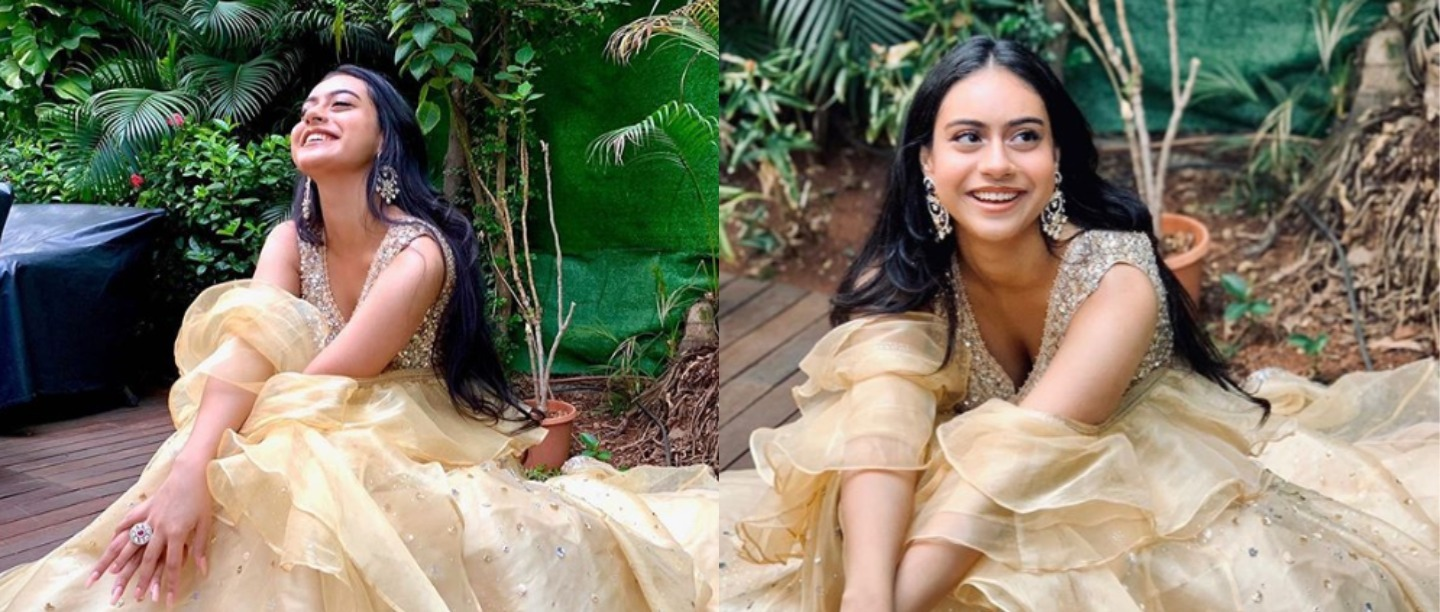 Kajol Posted Nysa's Pic On Instagram & We Can't Stop Thinking About Her Organza Lehenga