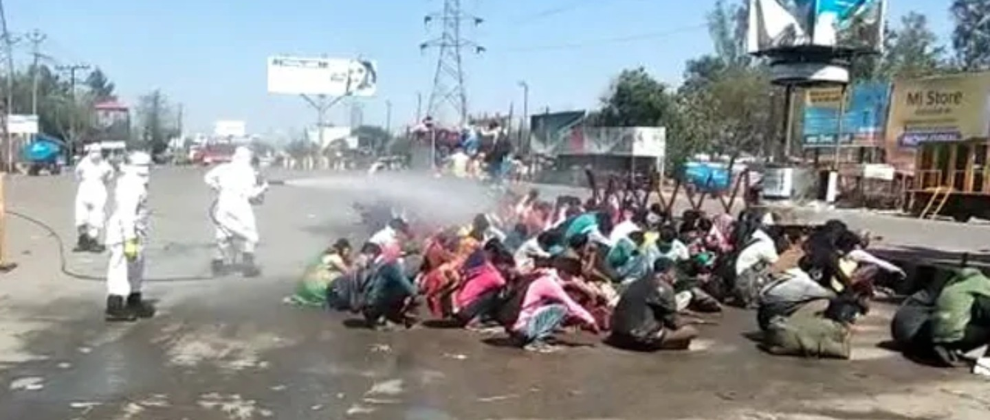 Twitter Reacts To Viral 'Chemical Bath' Video Of Migrant Labourers In Bareilly