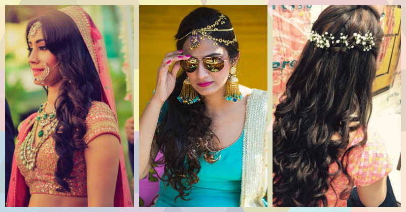 8 Pretty Bridal Hairstyles For Girls With Curly Hair!