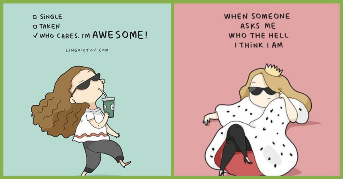 Single & Awesome: 7 Cute Illustrations That Are Just *Perfect*!