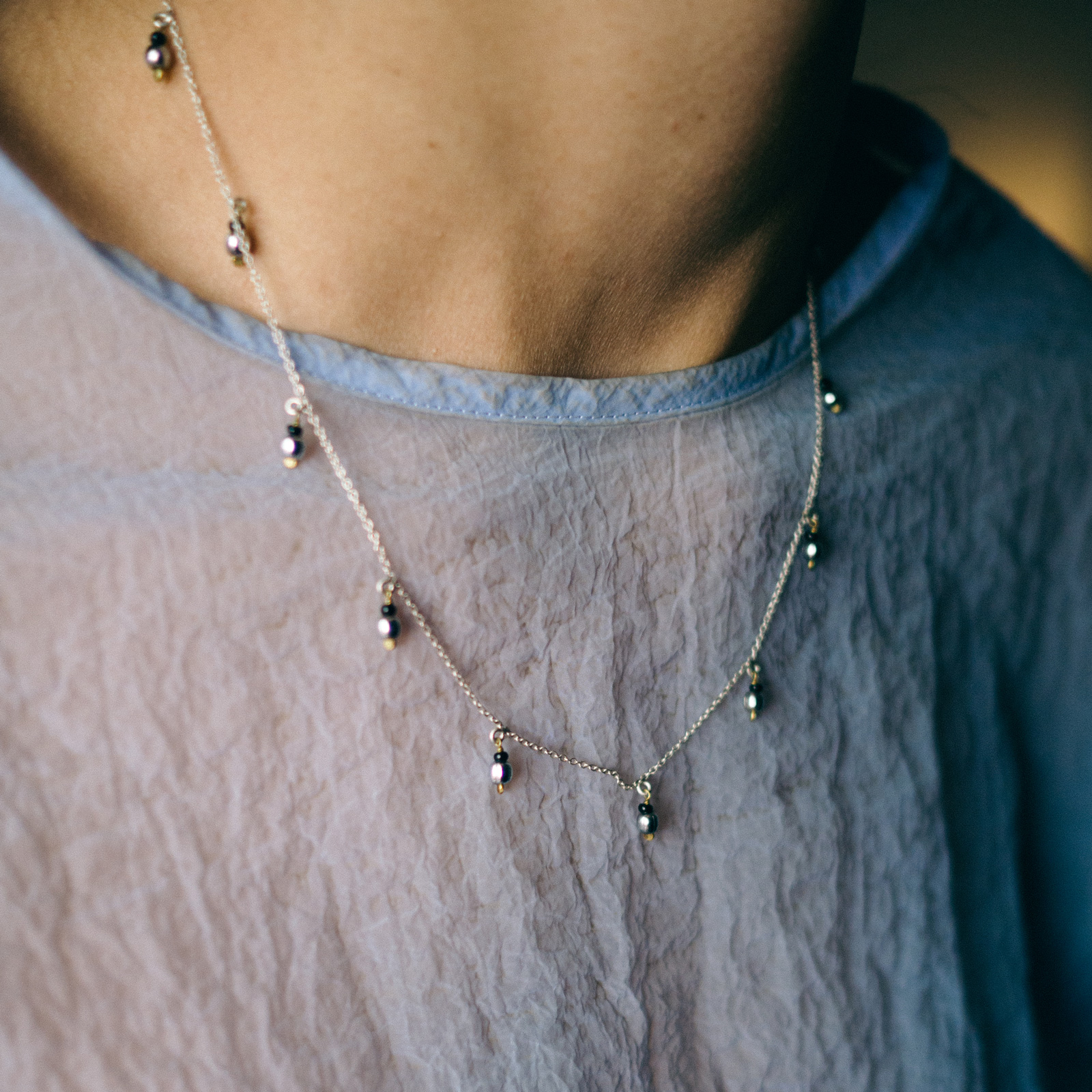 Silver Droplet Necklace