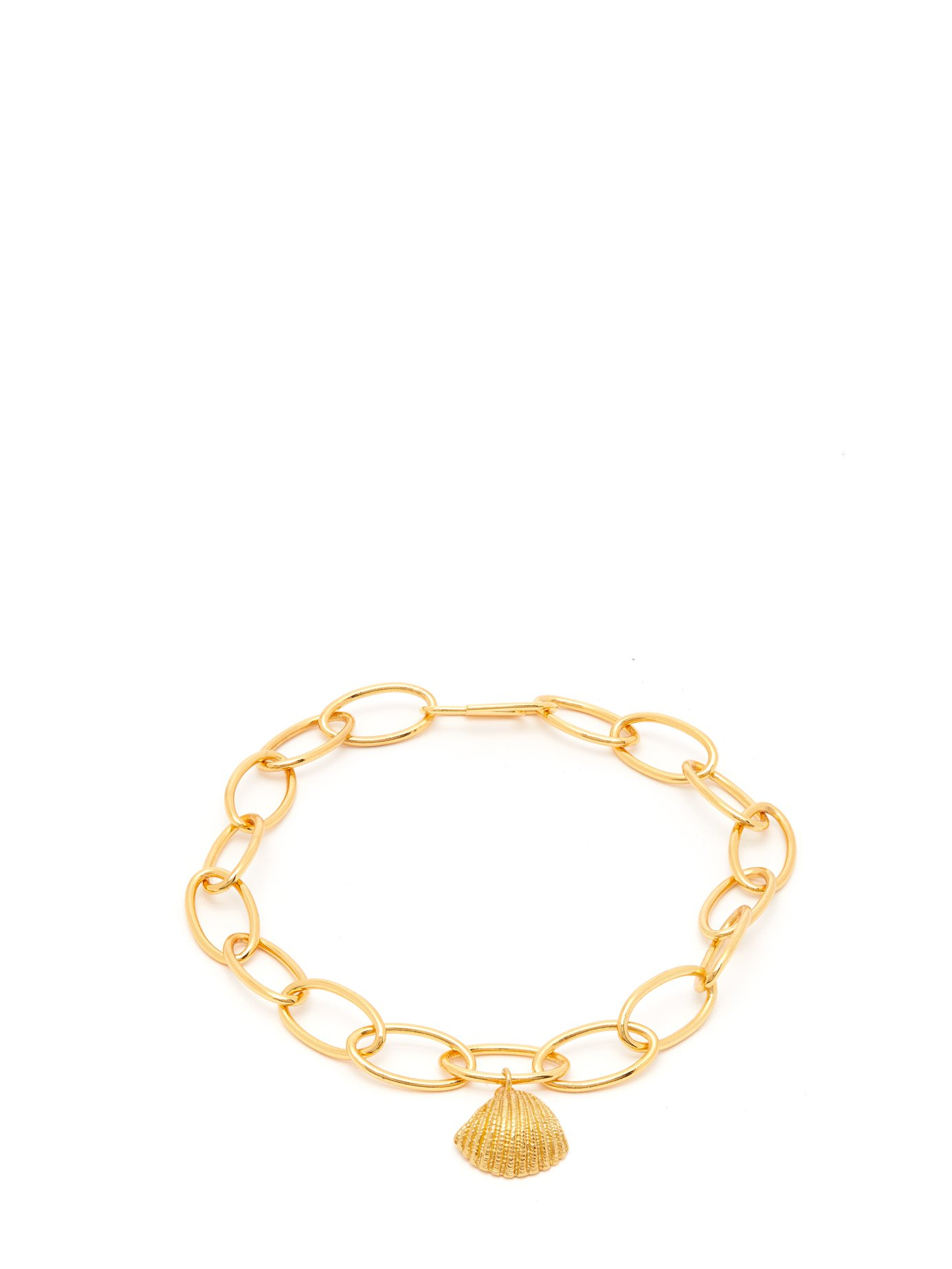 Shell-Charm Gold-Plated Anklet
