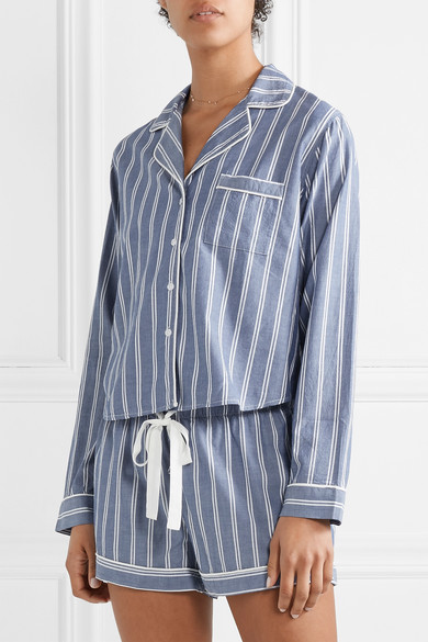 Striped Poplin Pajama Set