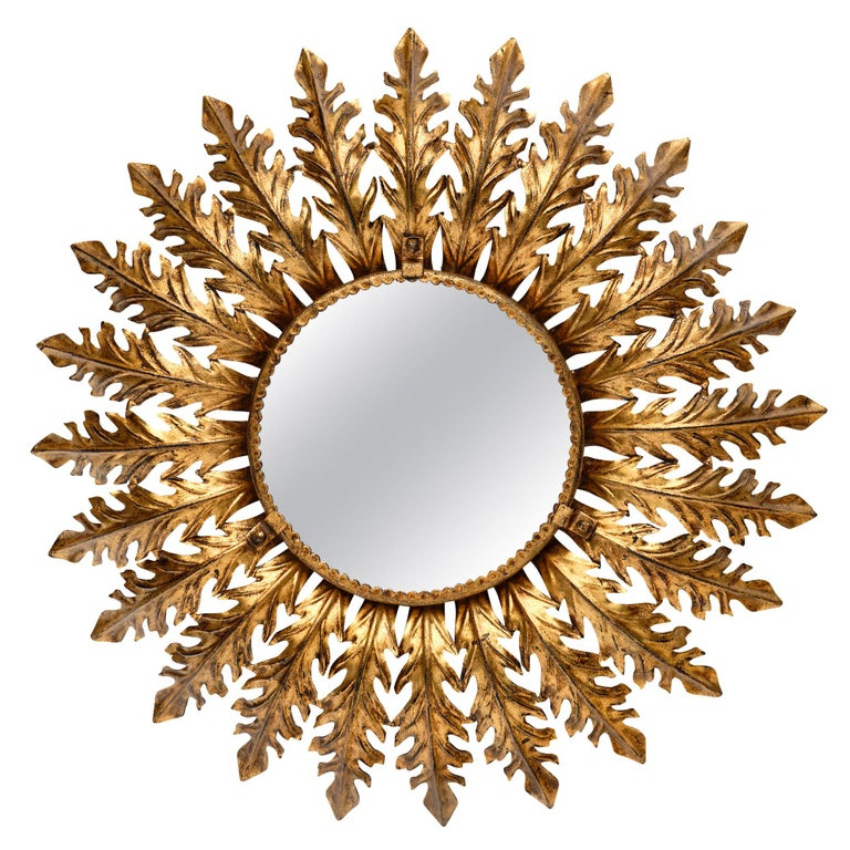 Vintage Spanish Sunburst Mirror