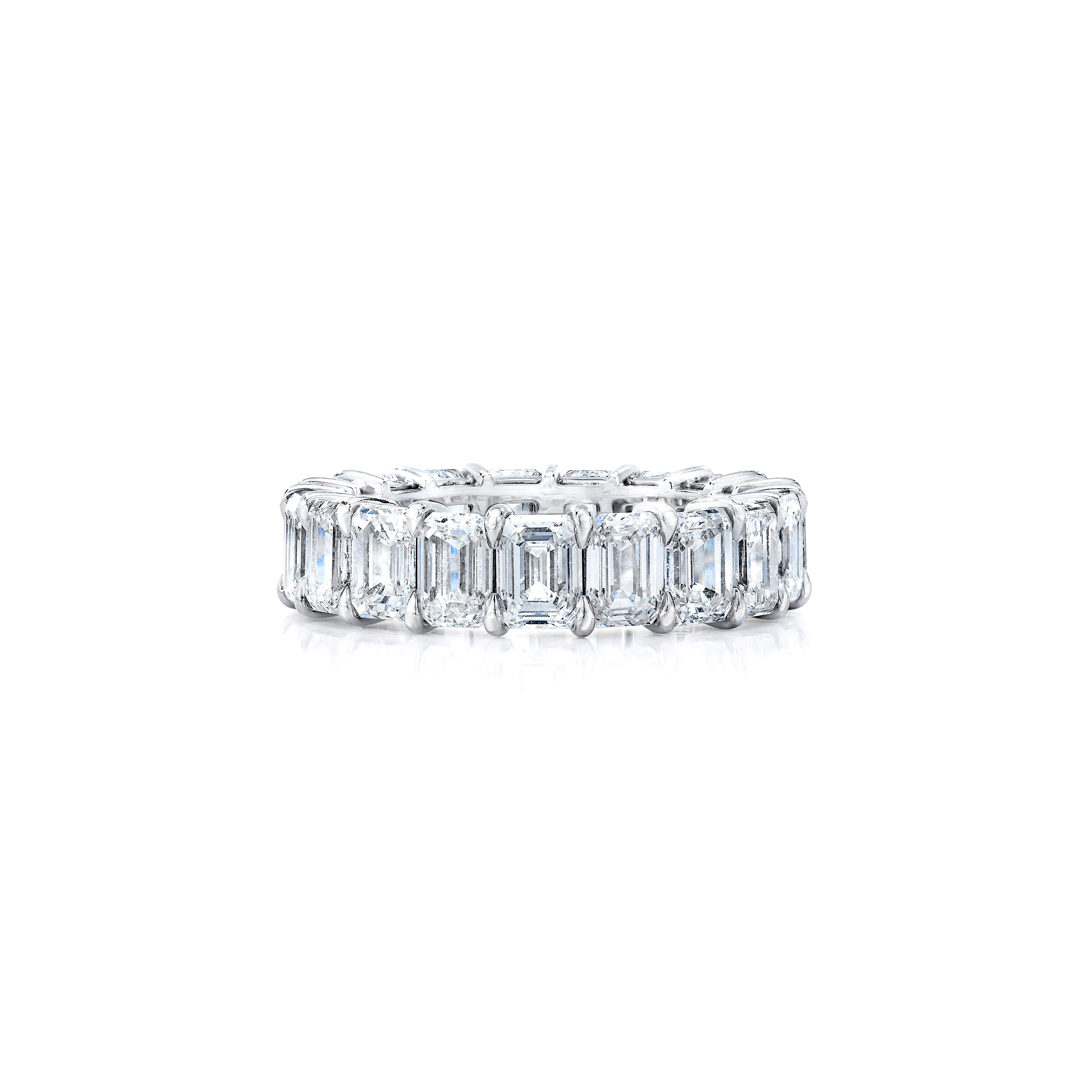 Petite Emerald Cut Eternity Band