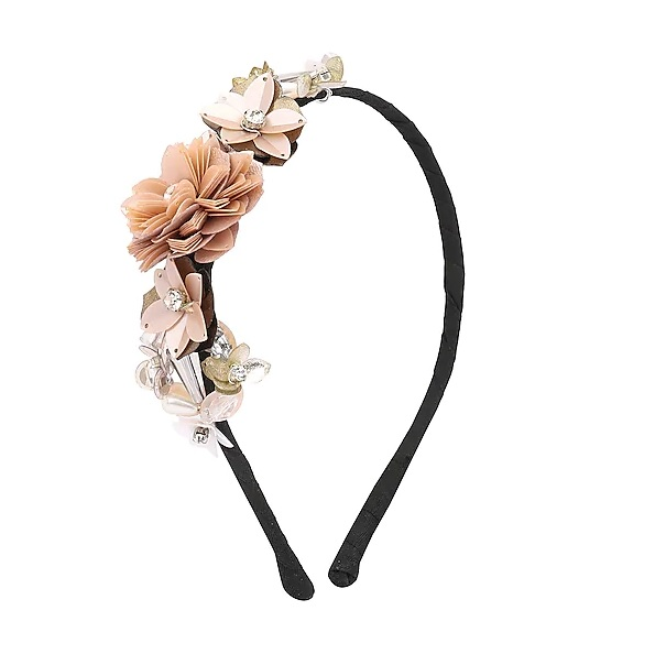 Orange and Peach Sequins and Crystal Embellished Hairband