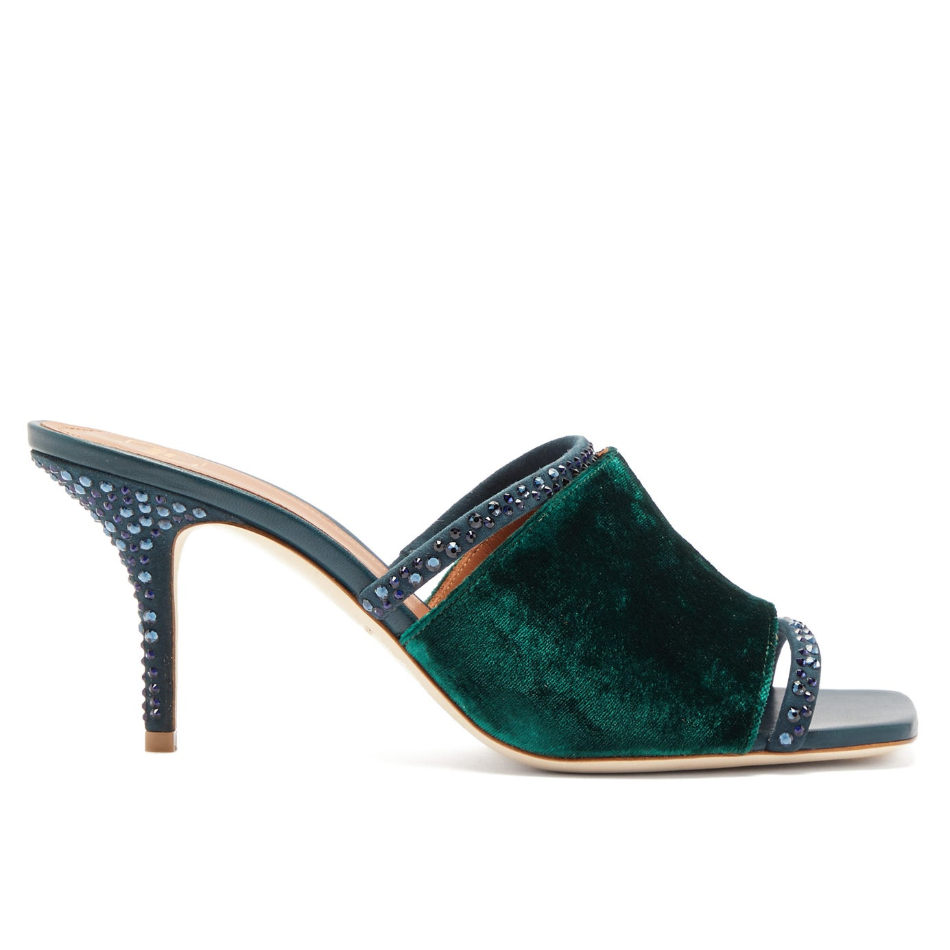 Laney Crystal-Embellished Velvet Mules