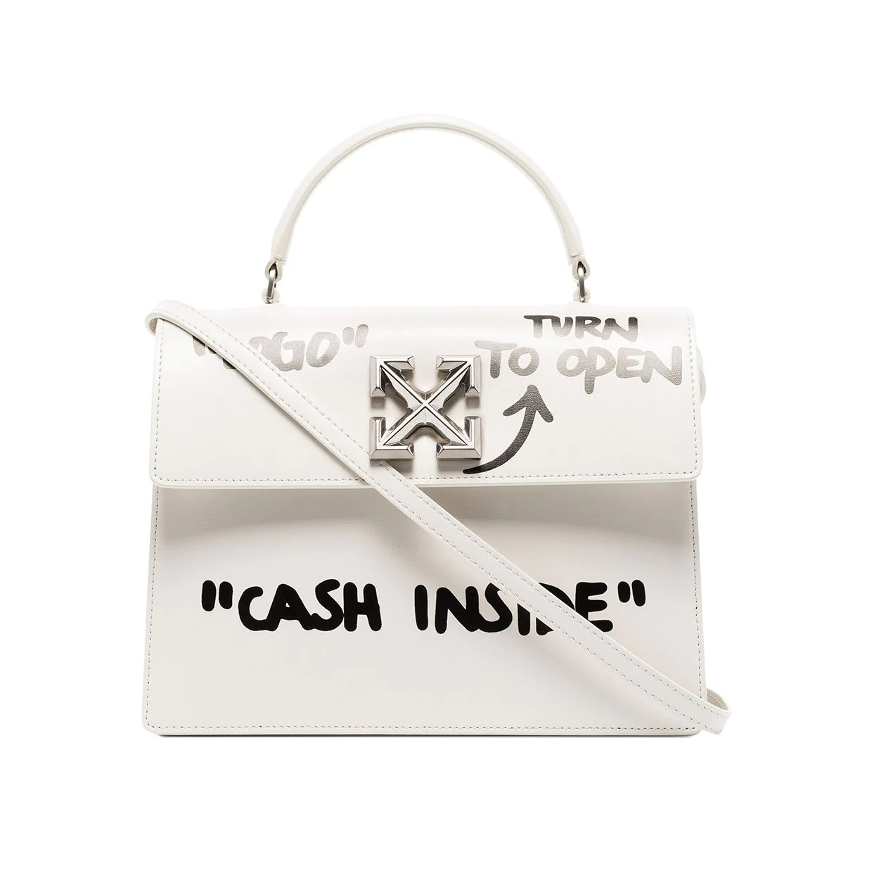 Jitney 2.8 Cash Inside Bag  Off-White