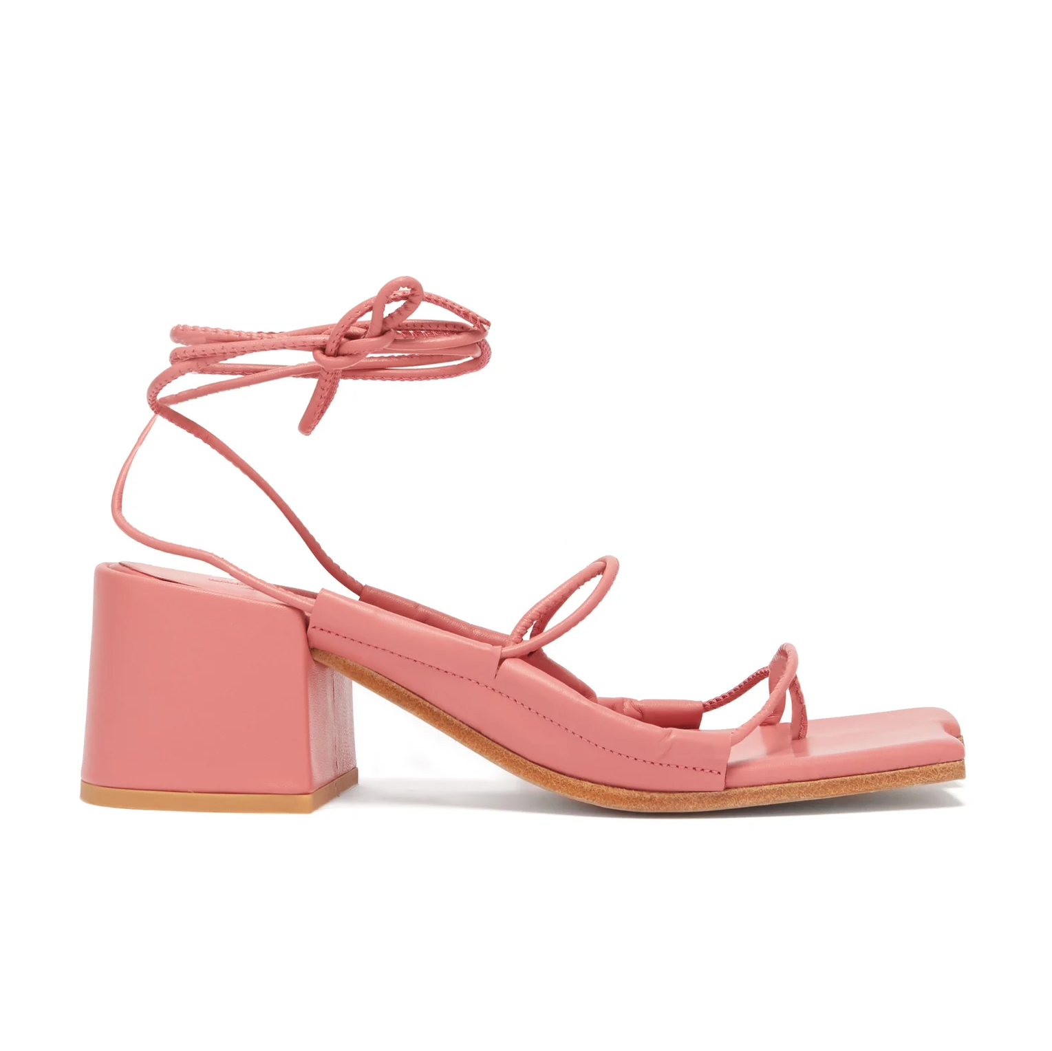 Asymmetric-Toe Wrap-Around Leather Sandals