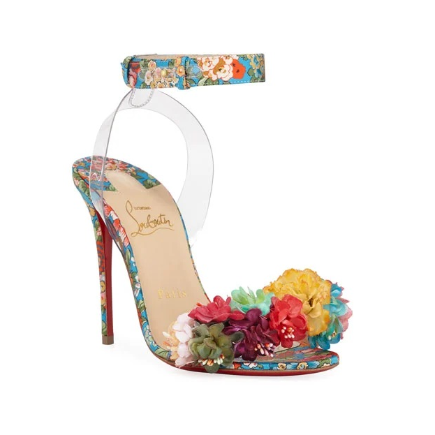 Arielta Floral Red Sole Sandals