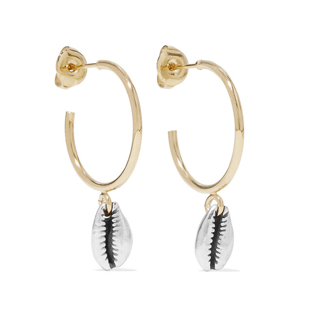 Amer Gold And Silver-Tone Hoop Earrings