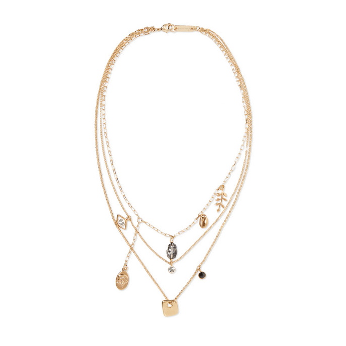 Vedette Gold-Tone Crystal Necklace